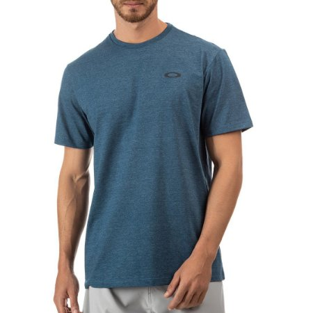 Camiseta Oakley Icon Masculina Azul Petróleo