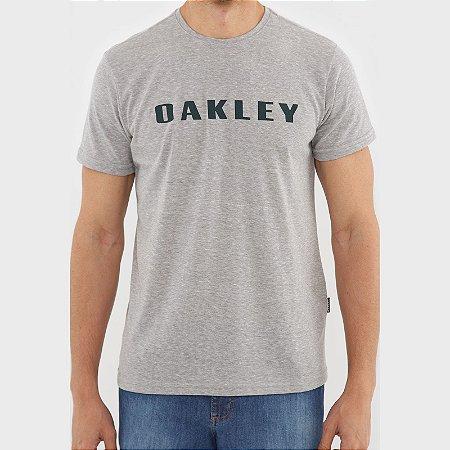 Camiseta Oakley O-Rec Bark Masculina Cinza/Verde