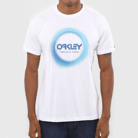 Camiseta Oakley Thermonuclear Aurea Masculina Branco