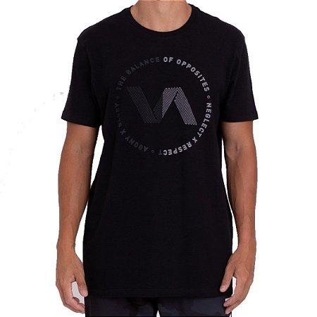 Camiseta RVCA VA Track Masculina Preto