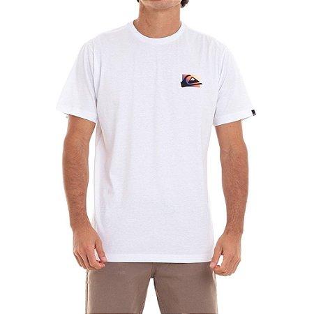 Camiseta Quiksilver Neon Colour Masculina Branco