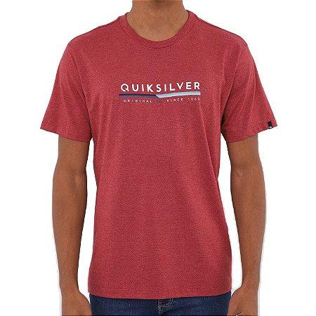 Camiseta Quiksilver Retro Lines Masculina Vermelho