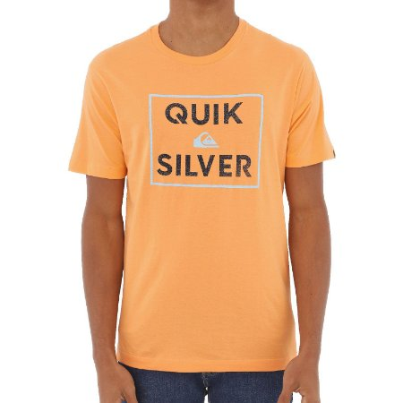 Camiseta Quiksilver Boxed Intent Masculina Laranja