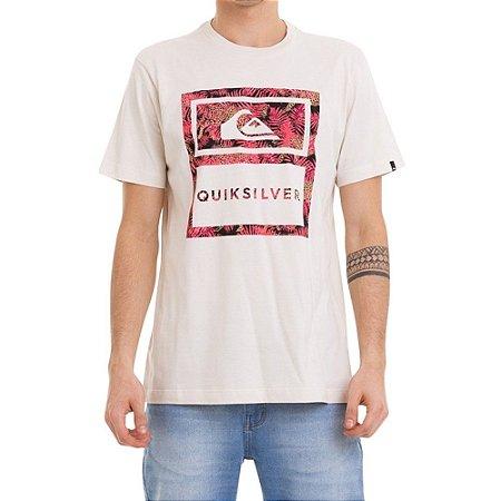 Camiseta Quiksilver Tracks Masculina Bege