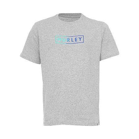 Camiseta Hurley Boxed Gradient Masculina Cinza Claro