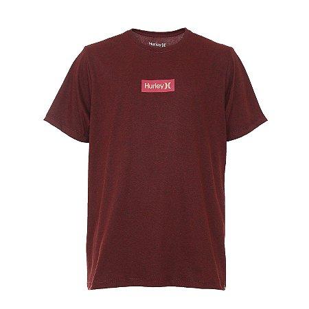 Camiseta Hurley O&O Small Box Masculina Vermelho