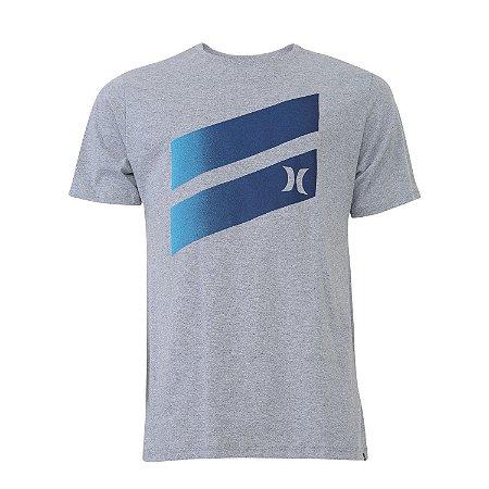 Camiseta Hurley Icon Slash Gradient Masculina Cinza Claro