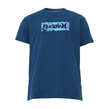 Camiseta Hurley Radial Tie Dye Masculina Azul Marinho