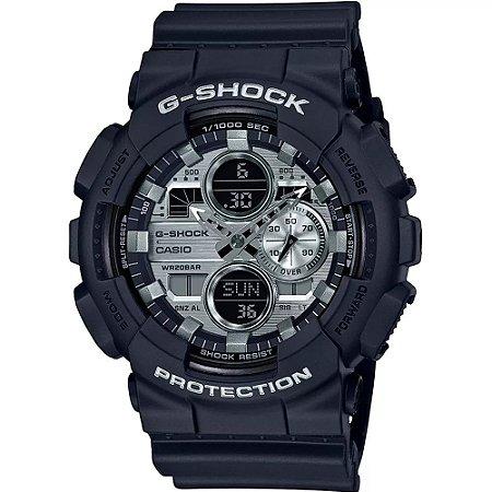Relógio G-Shock GA-140GM-1A1DR Preto/Prata