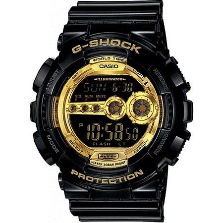 Relógio G-Shock GD-100GB-1DR Preto/Dourado