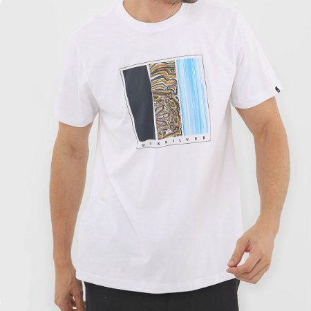 Camiseta Quiksilver Jungle Options Masculina Branco