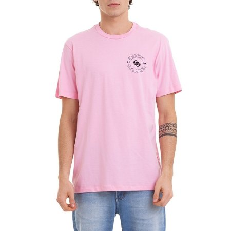 Camiseta Quiksilver Cosmic Thoughts Masculina Rosa