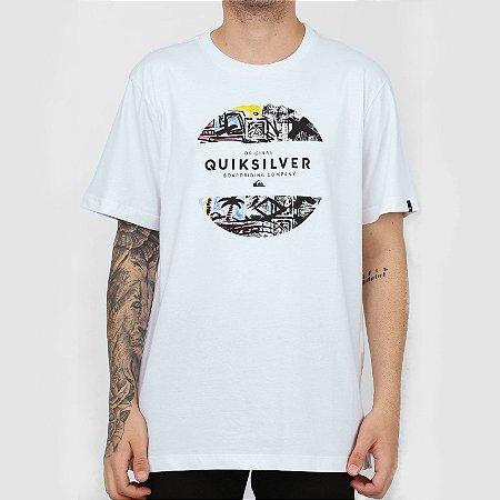 Camiseta Quiksilver Mixed Prints Masculina Branco