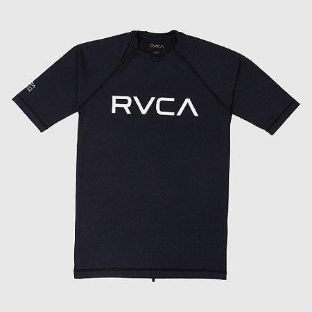 Lycra Rashguard RVCA Manga Curta Big RVCA Preto