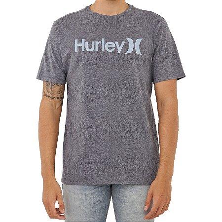 Camiseta Hurley O&O Solid Masculina Cinza Escuro