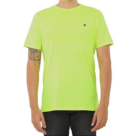 Camiseta Hurley Heat Masculina Amarelo Neon