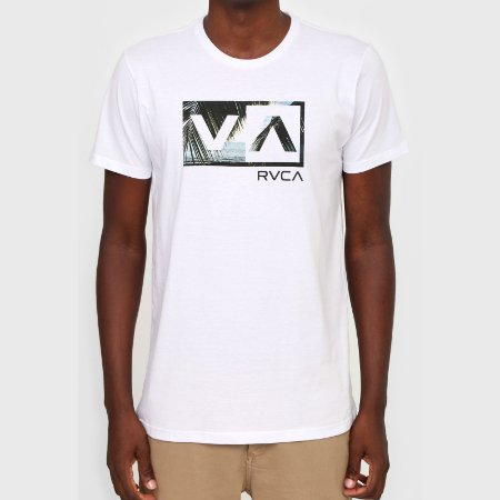Camiseta RVCA Balance Box Masculina Branco