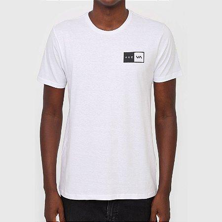 Camiseta RVCA Tokyo Balance Box Masculina Branco