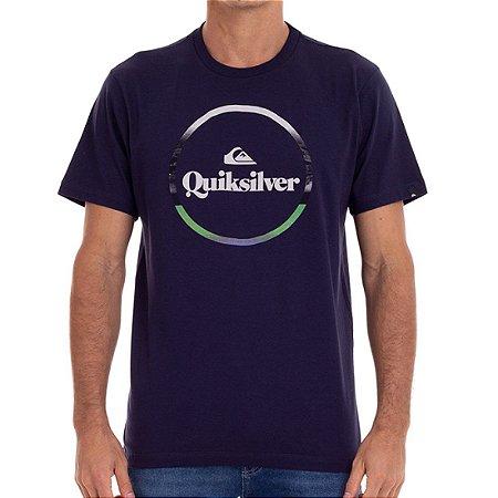 Camiseta Quiksilver Block Down Masculina Azul Marinho