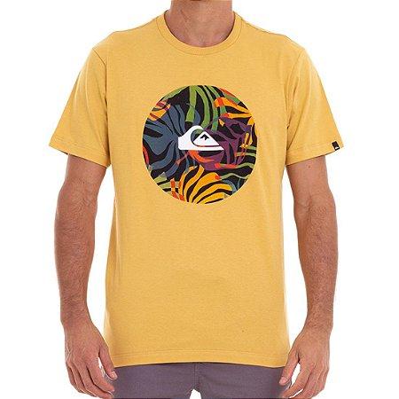 Camiseta Quiksilver Fast Time Masculina Amarelo