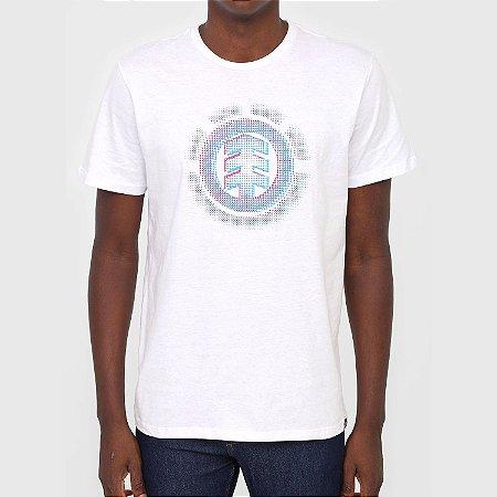 Camiseta Element Gradient Logo Masculina Branco
