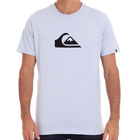 Camiseta Quiksilver Comp Logo Color Masculina Azul Claro
