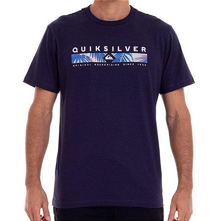 Camiseta Quiksilver Jungle Jim Masculina Azul Marinho