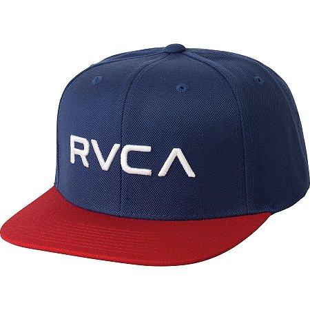 Boné RVCA Snap RVCA III Azul/Vermelho