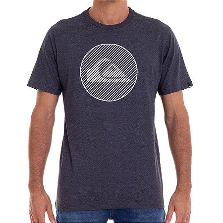 Camiseta Quiksilver Informal Disco Masculina Cinza Escuro