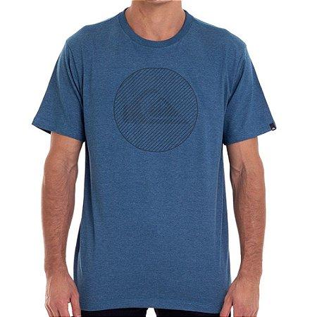 Camiseta Quiksilver Informal Disco Masculina Azul Escuro