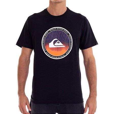 Camiseta Quiksilver World Surge Masculina Preto