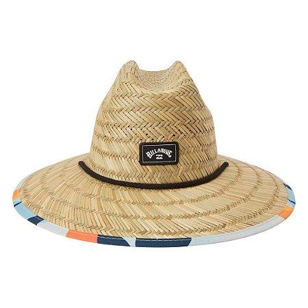 Chapéu de Palha Billabong Tides Print Marrom/Azul