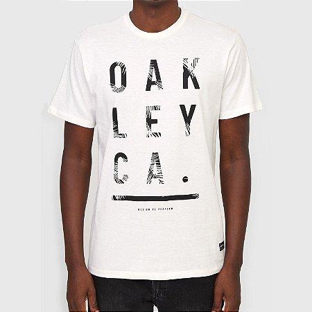 Camiseta Oakley Orange County Palm SS Masculina Branco