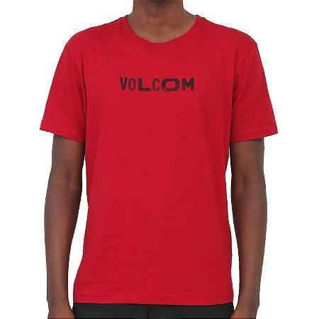Camiseta Volcom Reply Masculina Vermelho