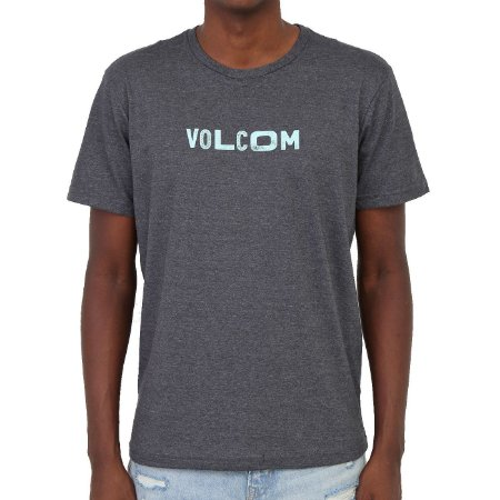 Camiseta Volcom Reply Masculina Preto Mescla