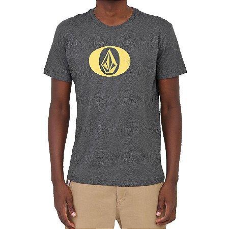 Camiseta Volcom Eliptical Masculina Preto Mescla