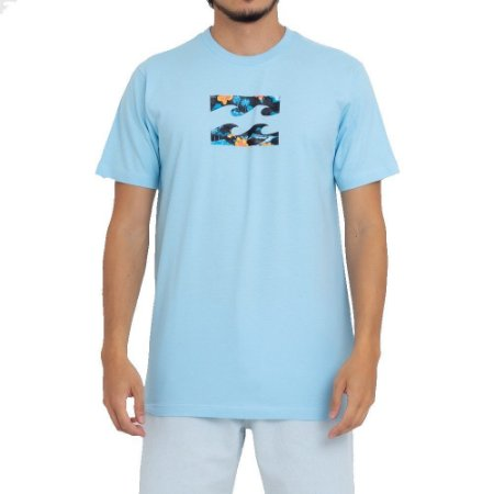 Camiseta Billabong Team Wave III Masculina Azul