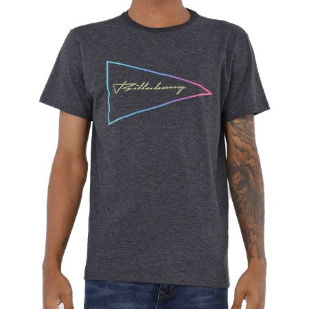 Camiseta Billabong Flag Masculina Cinza Escuro