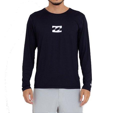 Camiseta Billabong Manga Longa Surf All Day Wave LF Masculina Preto
