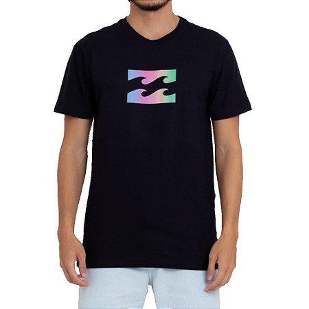 Camiseta Billabong Wave Gradient Masculina Preto