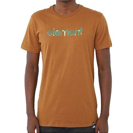 Camiseta Element Water Camo Mark Masculina Marrom
