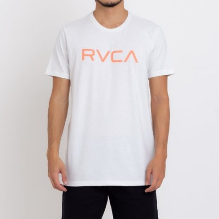 Camiseta RVCA Big RVCA Masculina Off White