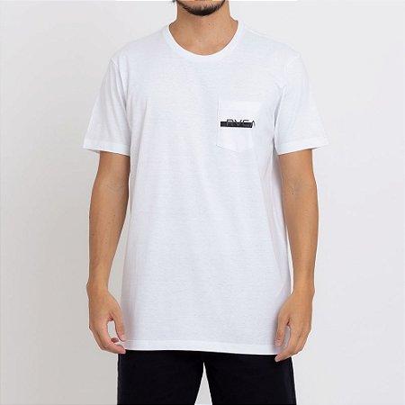 Camiseta RVCA Redacted Masculina Branco
