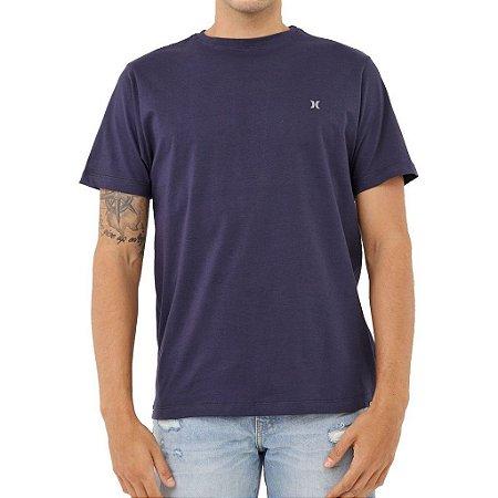 Camiseta Hurley Silk Oversize Heat Masculina Azul Marinho