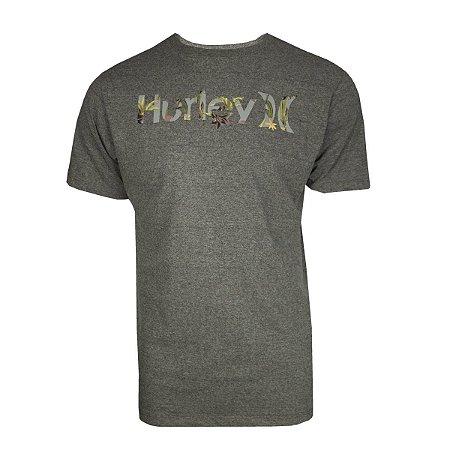 Camiseta Hurley Inside Masculina Cinza Escuro
