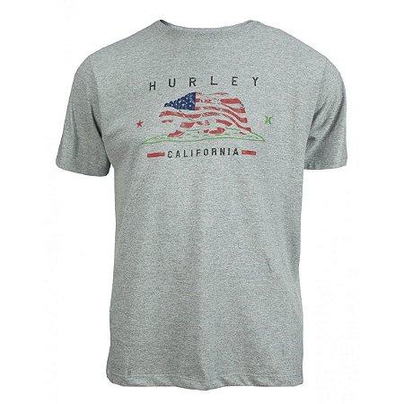 Camiseta Hurley Cali Flag Masculina Cinza Claro