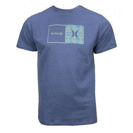 Camiseta Hurley Natural Masculina Azul Marinho