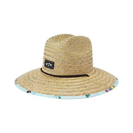 Chapéu de Palha Billabong Tides Print Marrom/Verde