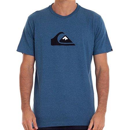 Camiseta Quiksilver Comp Logo Masculina Azul