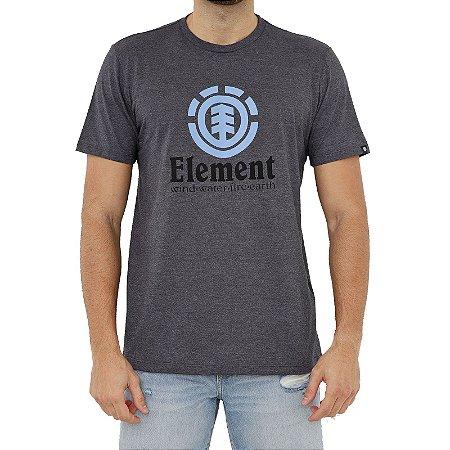 Camiseta Element Vertical Masculina Cinza Escuro